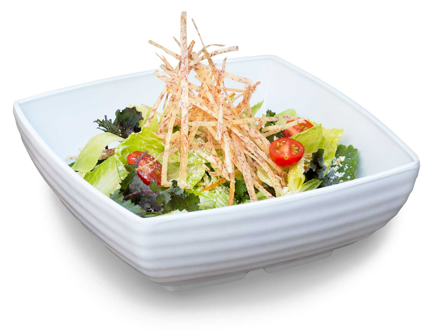 Original Caesar Salad with Crispy Taro, Available at all Burger Lounge locations