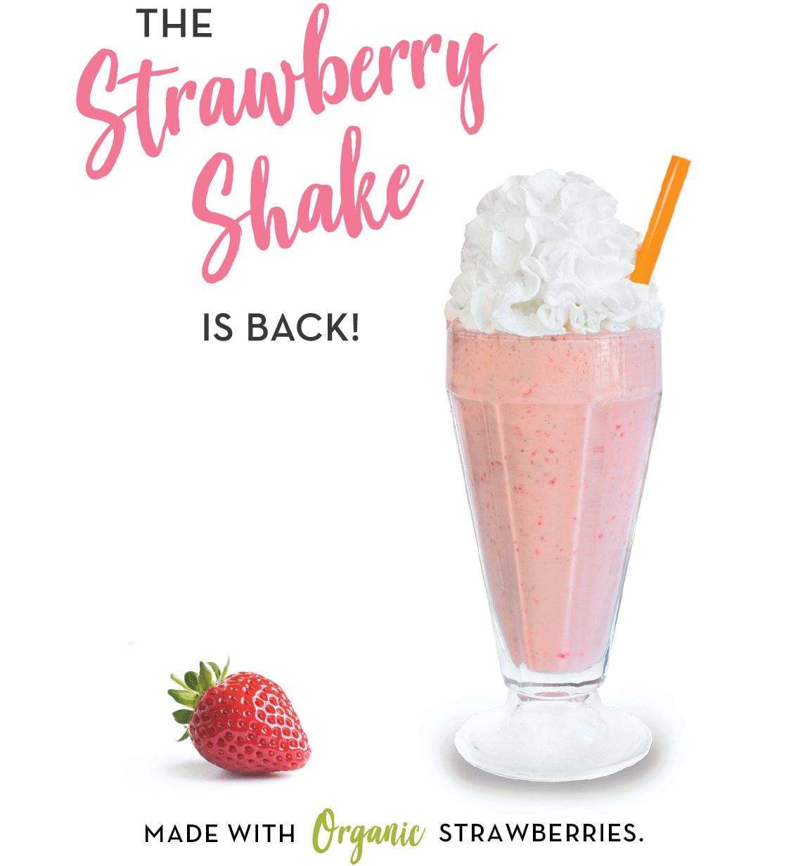 The Strawberry Shake is Back - but only for a Limited Time at Burger Lounge!